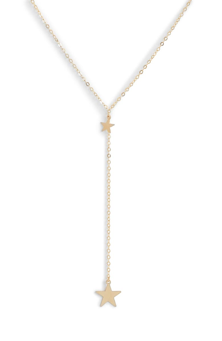 MARIDA Two-Star Y-Necklace, Main, color, SILVER/ GOLD