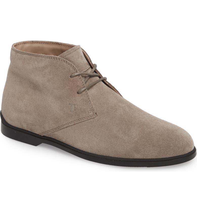 TOD'S Polacco Chukka Boot, Main, color, LIGHT BROWN