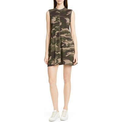 Atm Anthony Thomas Melillo Camo Print Slub Jersey Tank Dress