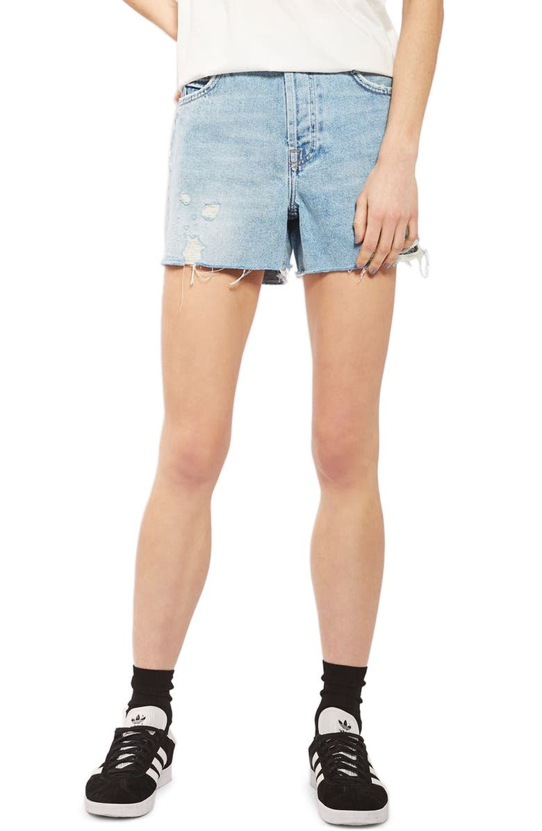 0a8ab1d3db Topshop Ashley Ripped Boyfriend Shorts | Nordstrom
