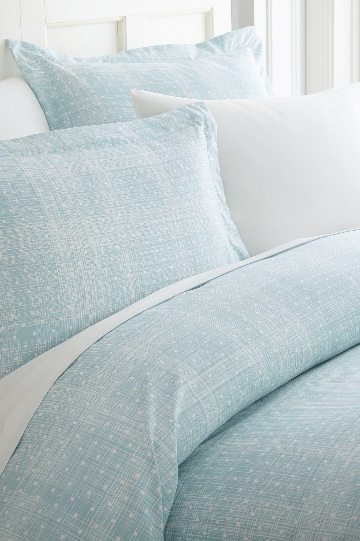 Ienjoy Home Home Spun Premium Ultra Soft Polka Dot Pattern 3-piece Duvet Cover Full/queen Set In Aqua