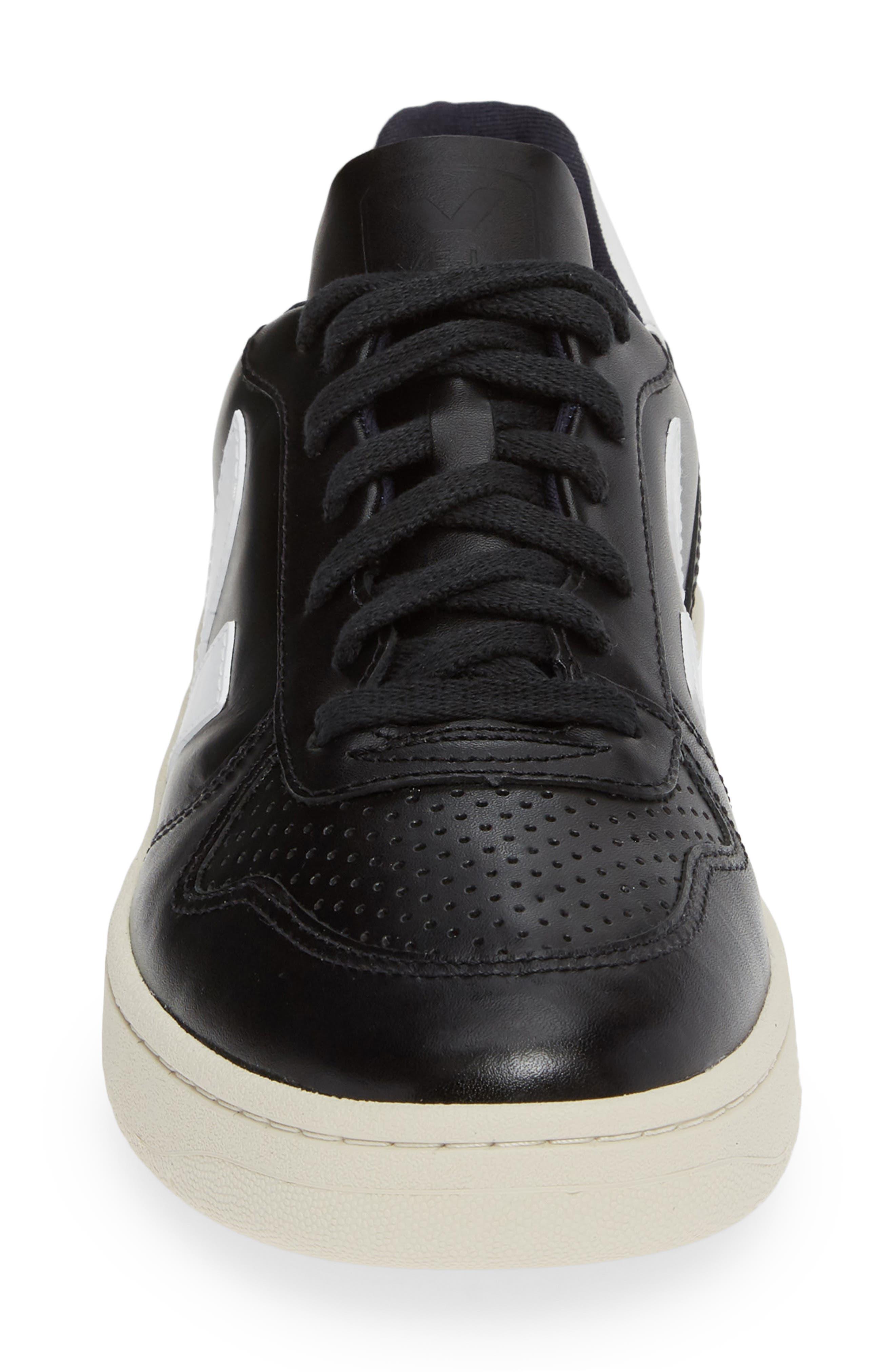,                             V-10 Sneaker,                             Alternate thumbnail 4, color,                             BLACK WHITE