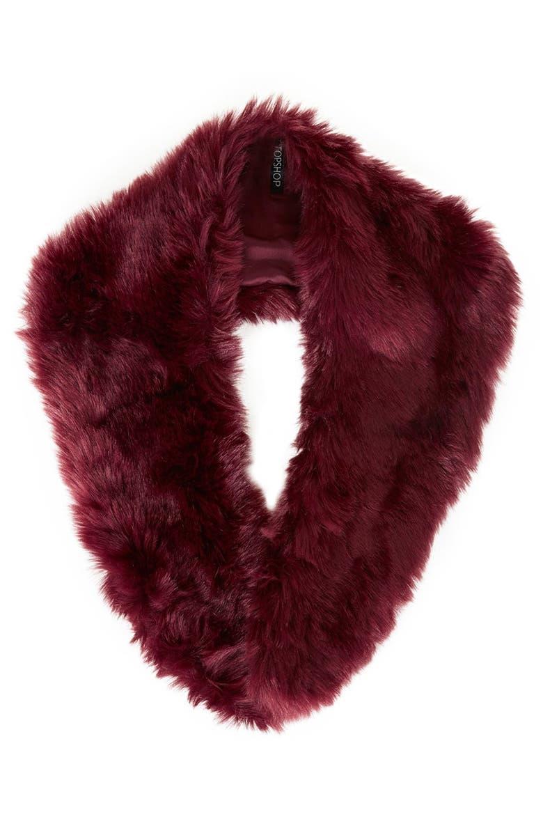 TOPSHOP Faux Fur Stole, Main, color, 600