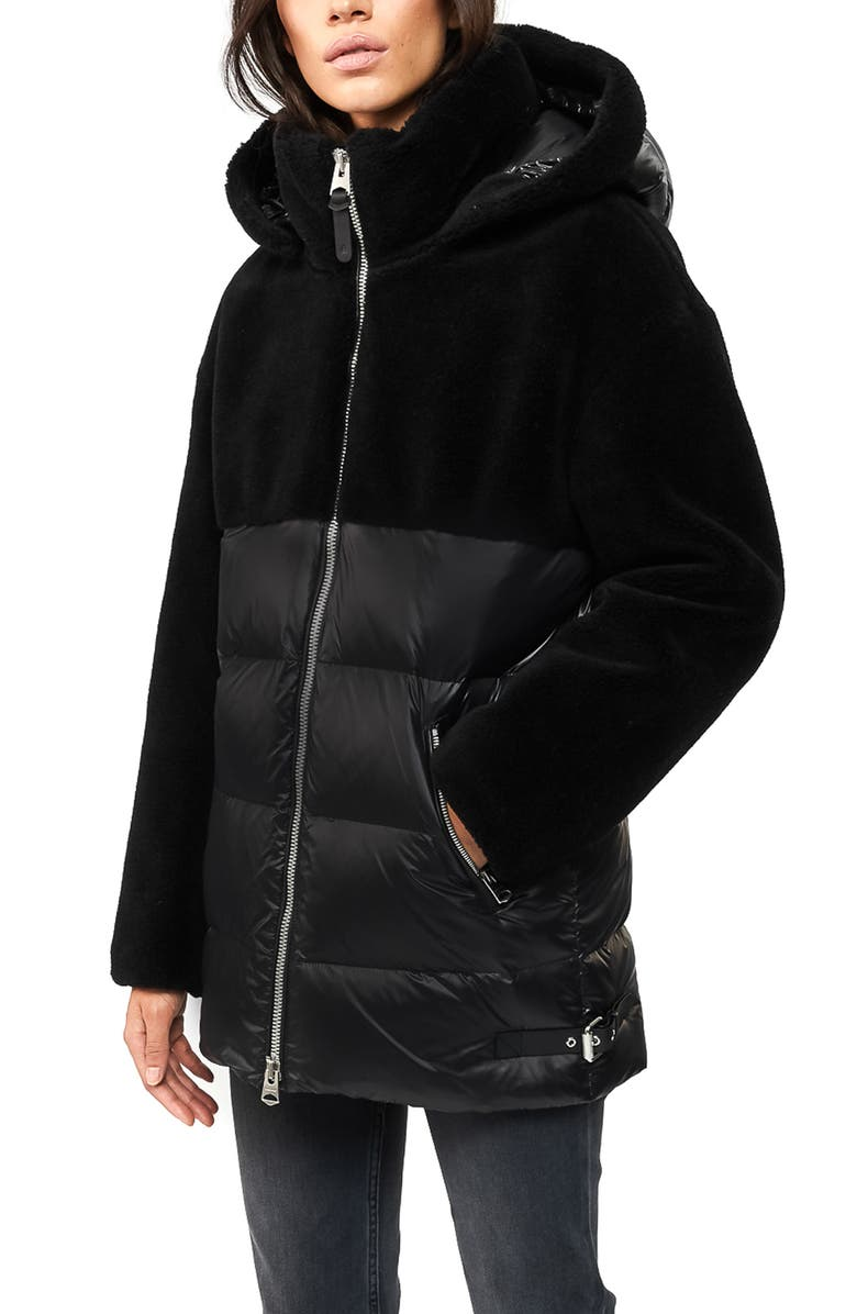 MACKAGE Junia Down Puffer Jacket, Main, color, BLACK