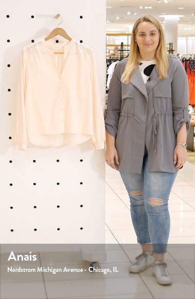 Tonal Stripe Long Sleeve Button-Up Shirt, sales video thumbnail