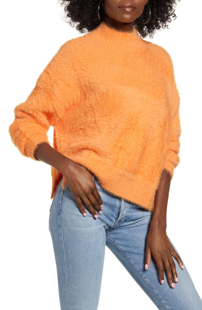 4SI3NNA Noah Sweater, Main, color, BRIGHT ORANGE
