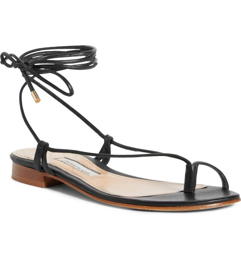 EMME PARSONS Emme Parson Ava Toe Loop Sandal, Main, color, BLACK