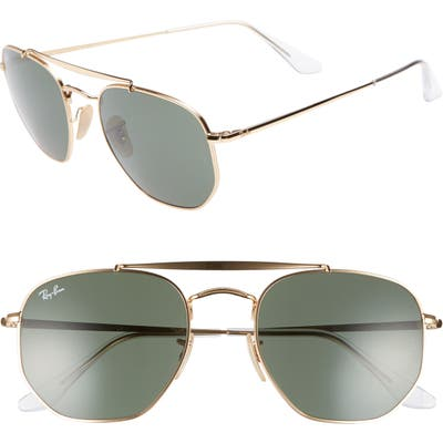 Ray-Ban Marshal 5m Aviator Sunglasses - Gold/ Green