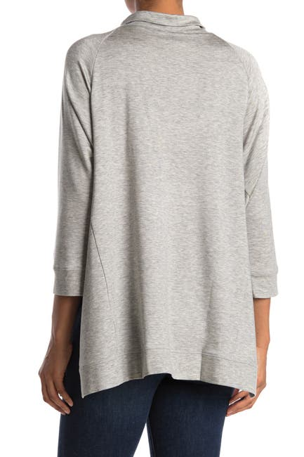 Image of Eileen Fisher Funnel Neck Knit Tunic Top