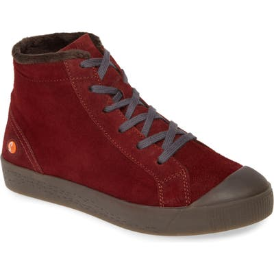 Softinos By Fly London Kip High Top Sneaker - Burgundy