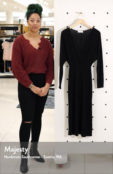 Ribbed Long Sleeve Midi Sweater Dress, sales video thumbnail