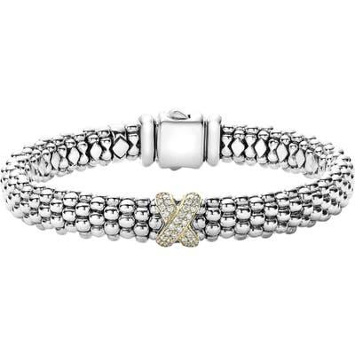 Lagos Diamond Lux Single Station X Bracelet