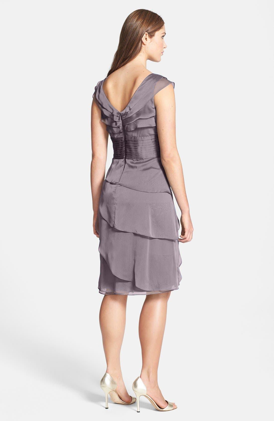 ,                             Tiered Chiffon Dress,                             Alternate thumbnail 42, color,                             512