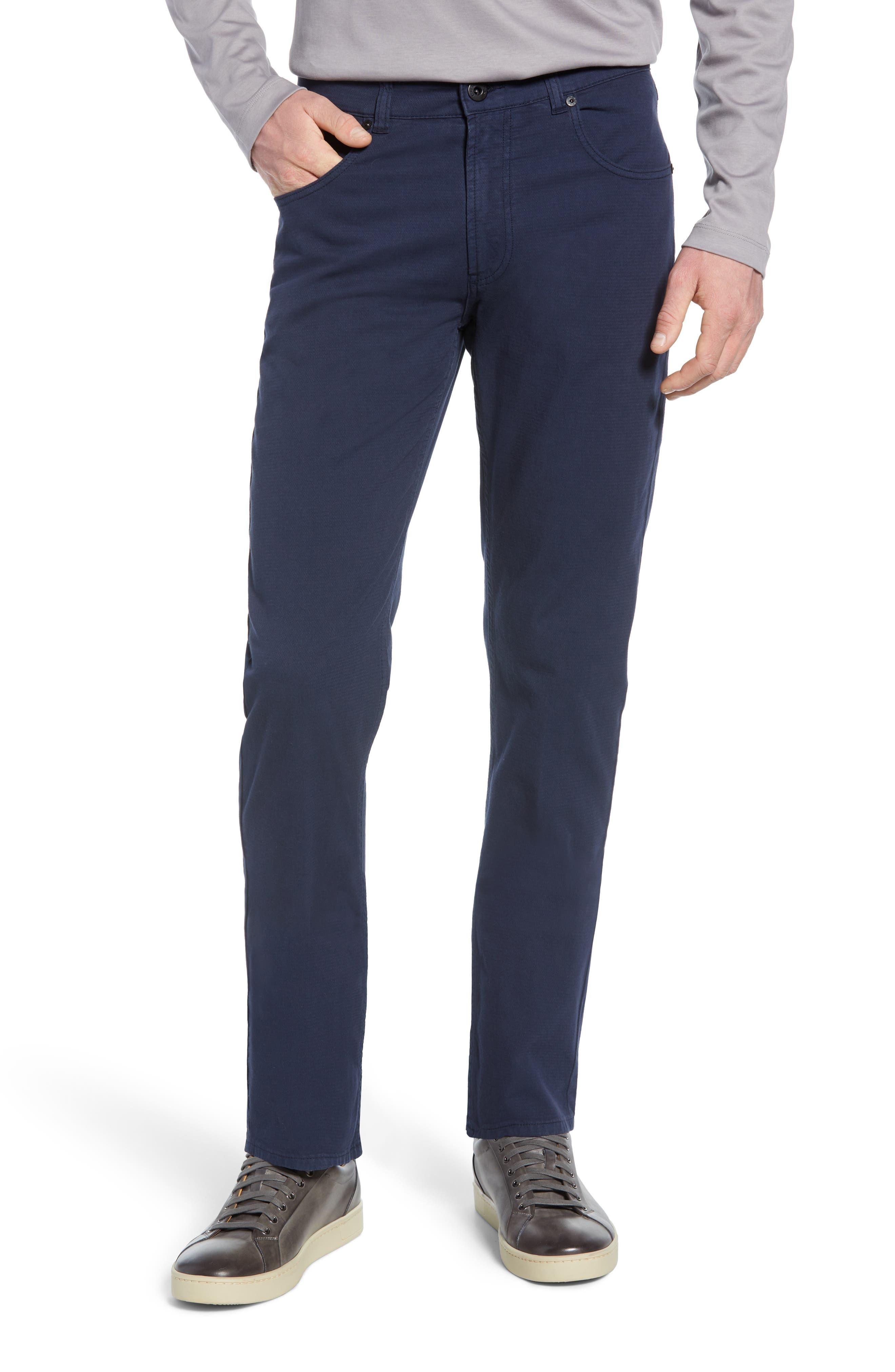 men's bugatchi slim straight leg pants