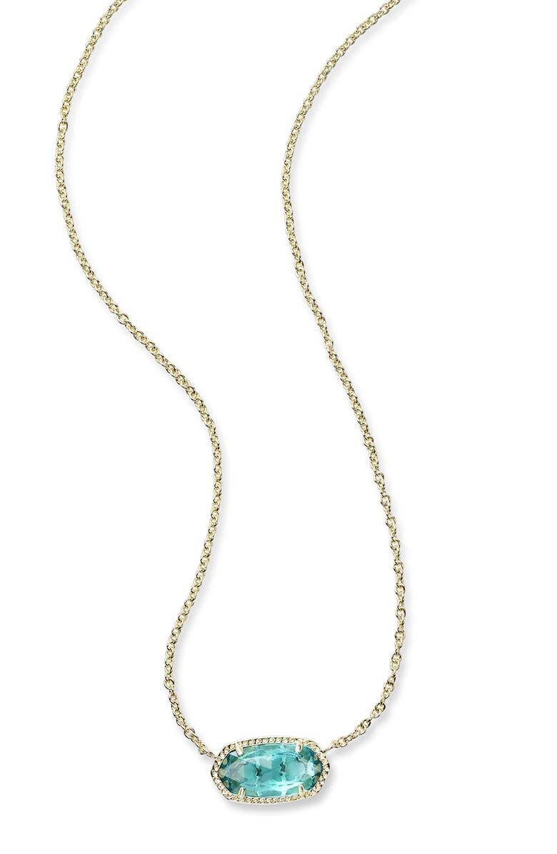 KENDRA SCOTT Elisa Birthstone Pendant Necklace, Main, color, DECEMBER/LONDON BLUE/GOLD