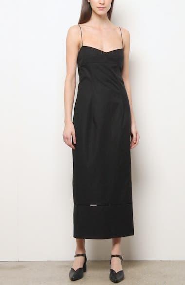 Deirdre Cotton Twill Midi Dress, video thumbnail