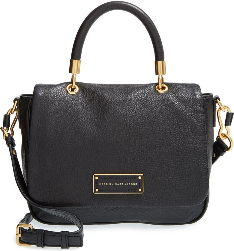 MARC JACOBS MARC BY MARC JACOBS 'Small Too Hot To Handle' Leather Tote, Main, color, 001