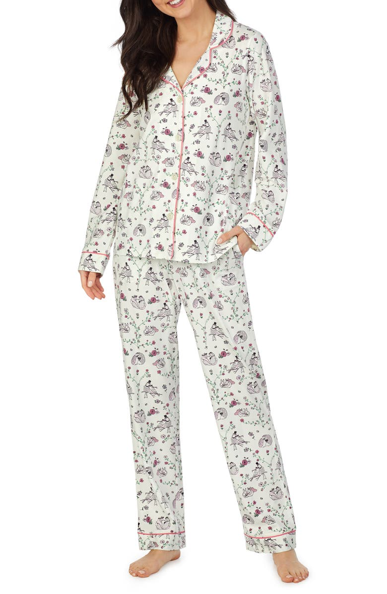 BEDHEAD PAJAMAS Stretch Organic Cotton Pajamas, Main, color, SOULMATES