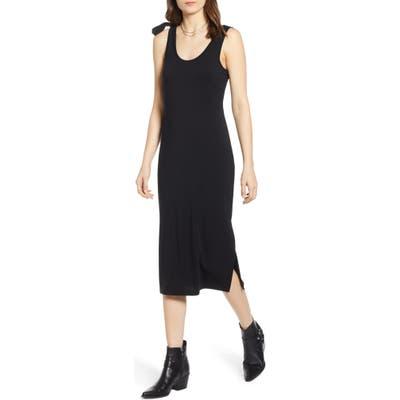 Treasure & Bond Scoop Neck Knit Dress, Black