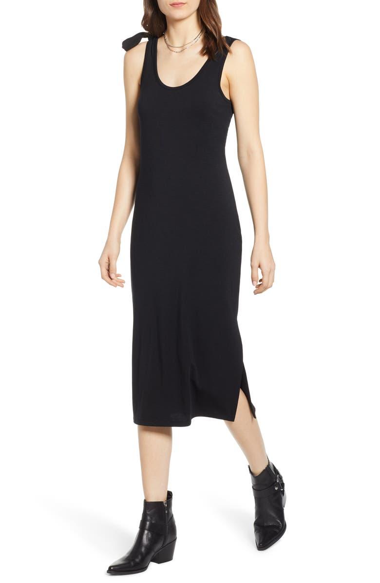 TREASURE & BOND Scoop Neck Knit Dress, Main, color, BLACK