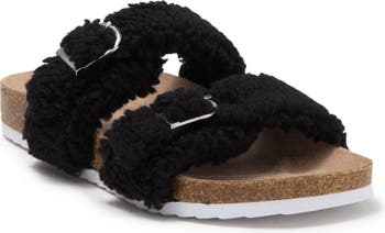 Indigo RD Sally Faux Fur Footbed Sandal