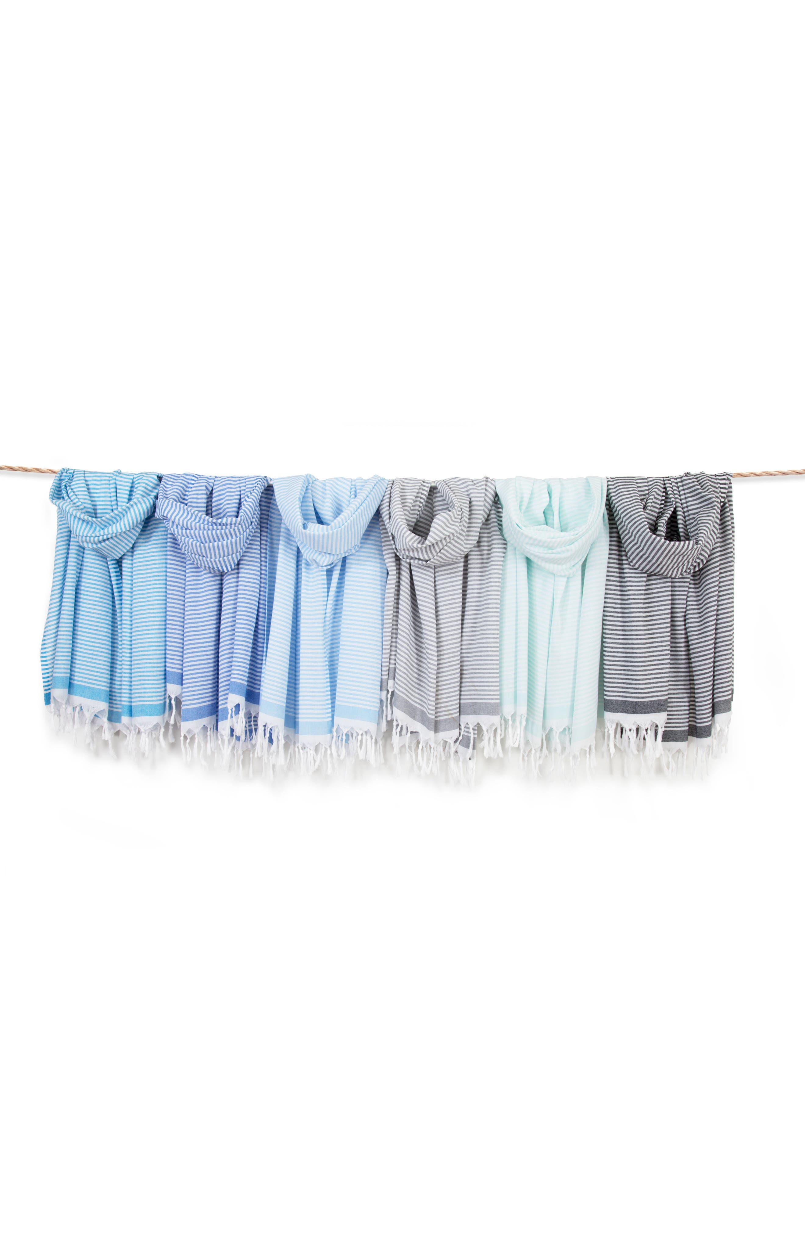 ,                             Soft Stripes Turkish Pestemal Towel,                             Alternate thumbnail 7, color,                             ROYAL BLUE