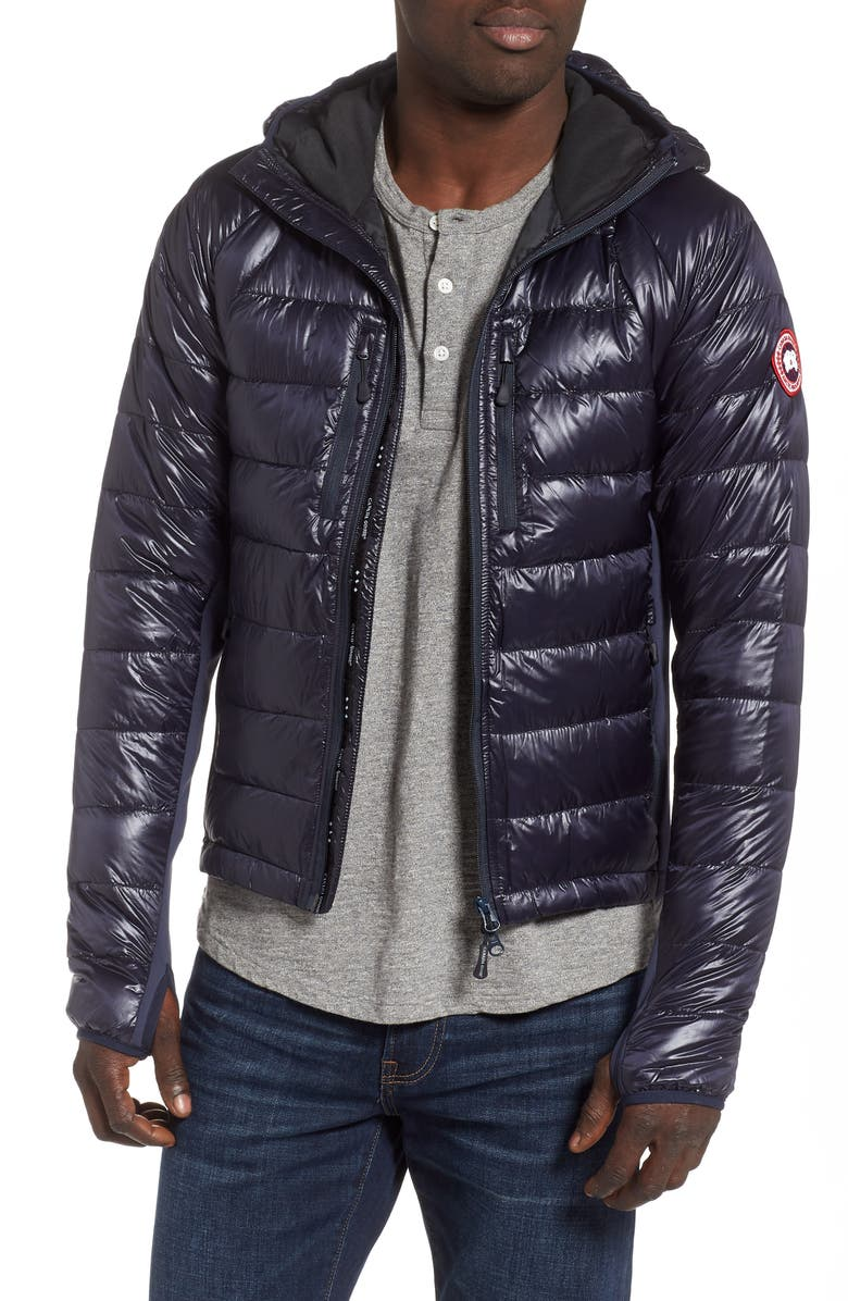 CANADA GOOSE 'Hybridge<sup>™</sup> Lite Hoody' Slim Fit Packable Jacket, Main, color, NAVY
