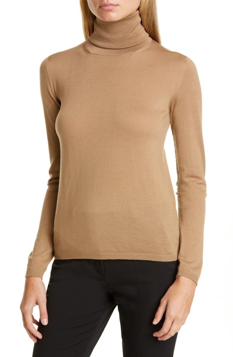 MAX MARA Kipur Wool Turtleneck Sweater, Main, color, 250