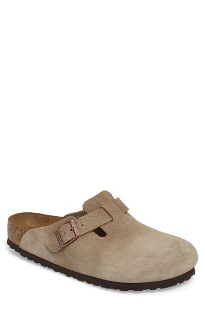 Birkenstock Shoes 'BOSTON SOFT' SUEDE CLOG
