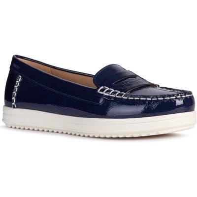 Geox Genova Moc Toe Loafer, Blue