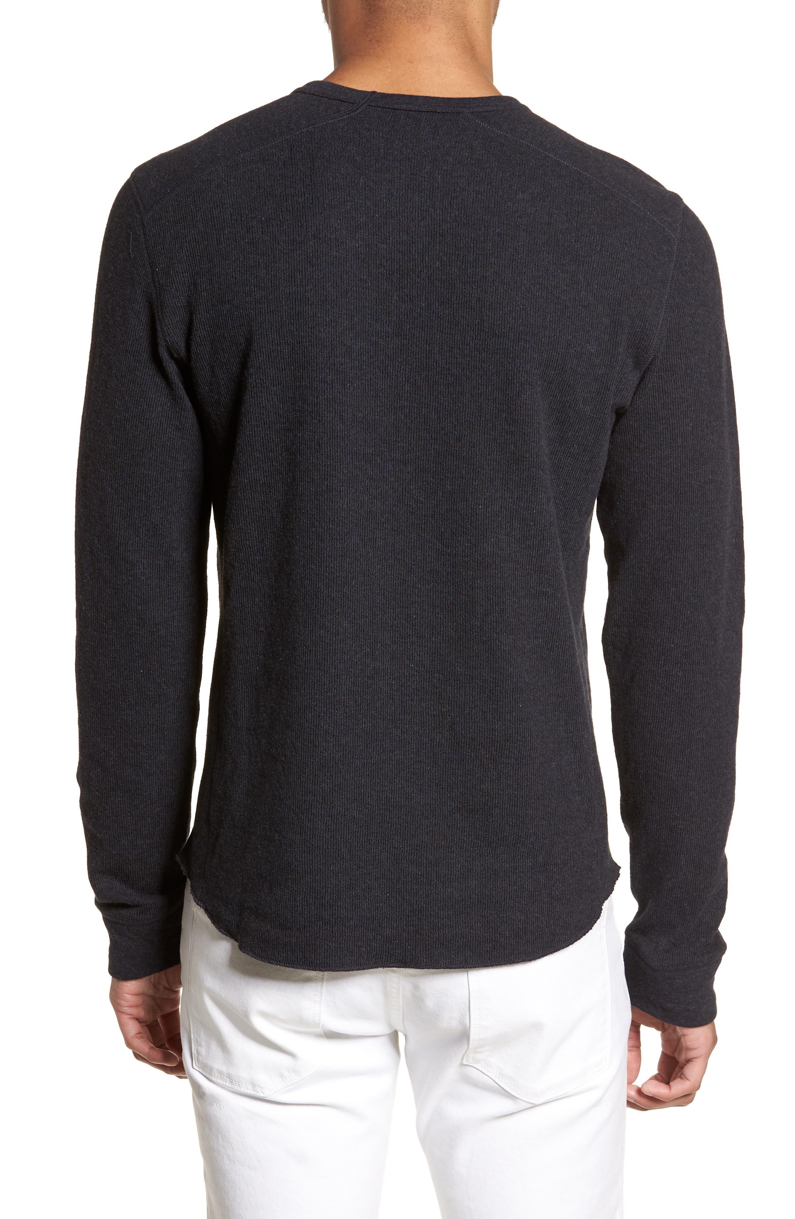 ,                             Double Knit Slim Fit Long Sleeve T-Shirt,                             Alternate thumbnail 2, color,                             MANHATTAN NAVY
