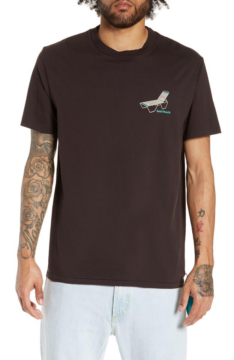 PASADENA LEISURE CLUB Laid Back T-Shirt, Main, color, 001