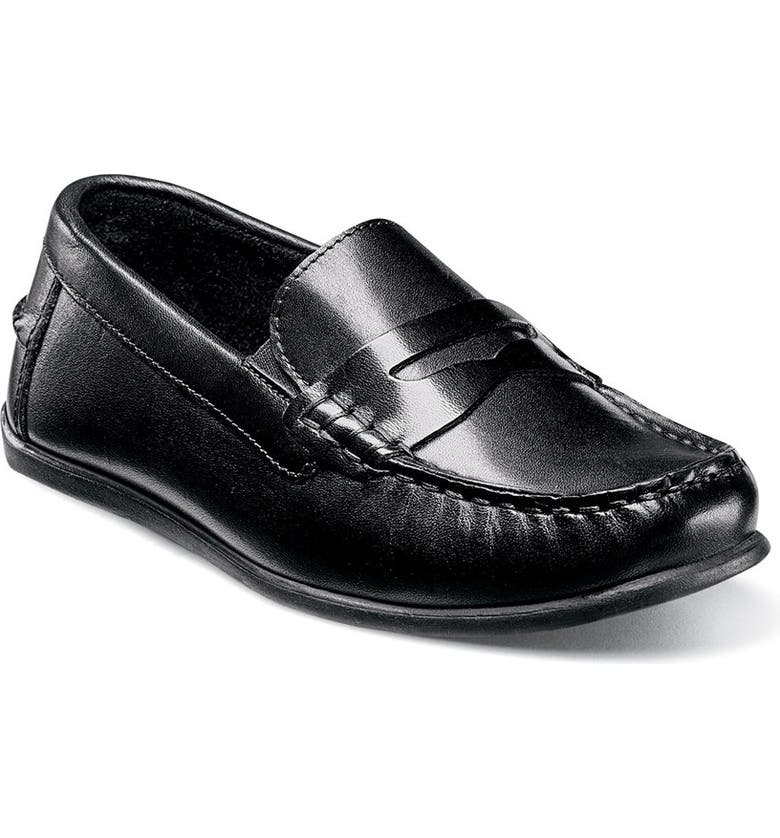 FLORSHEIM 'Jasper - Driver Jr.' Loafer, Main, color, BLACK LEATHER
