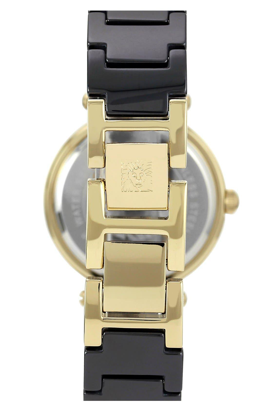 ,                             Round Ceramic Bracelet Watch, 31mm,                             Alternate thumbnail 2, color,                             001
