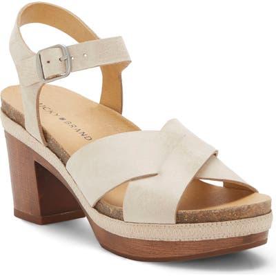 Lucky Brand Harvia Platform Sandal, White