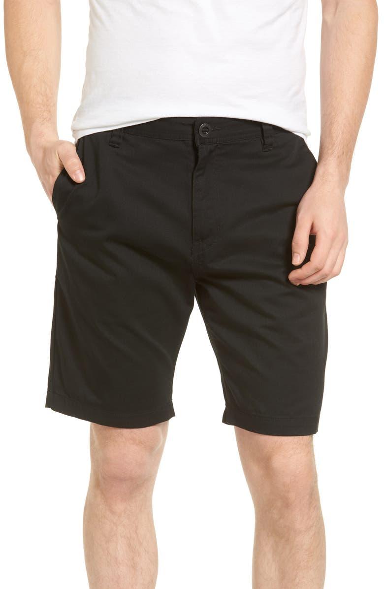 VOLCOM Modern Chino Shorts, Main, color, BLACK