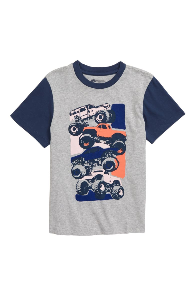 TUCKER + TATE All Day Recess T-Shirt, Main, color, GREY ASH HEATHER MONSTER TRUCK