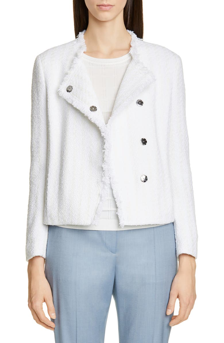 BOSS Jicara Tweed Jacket, Main, color, VANILLA LIGHT