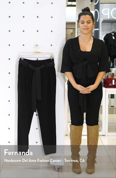 Matte Shine Crepe Slim Leg Pants, sales video thumbnail