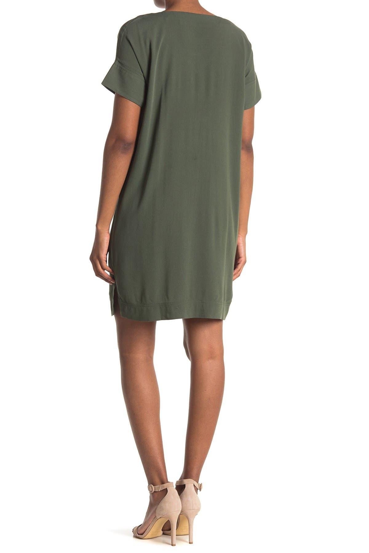 Image of Bobeau V-Neck Shift Dress