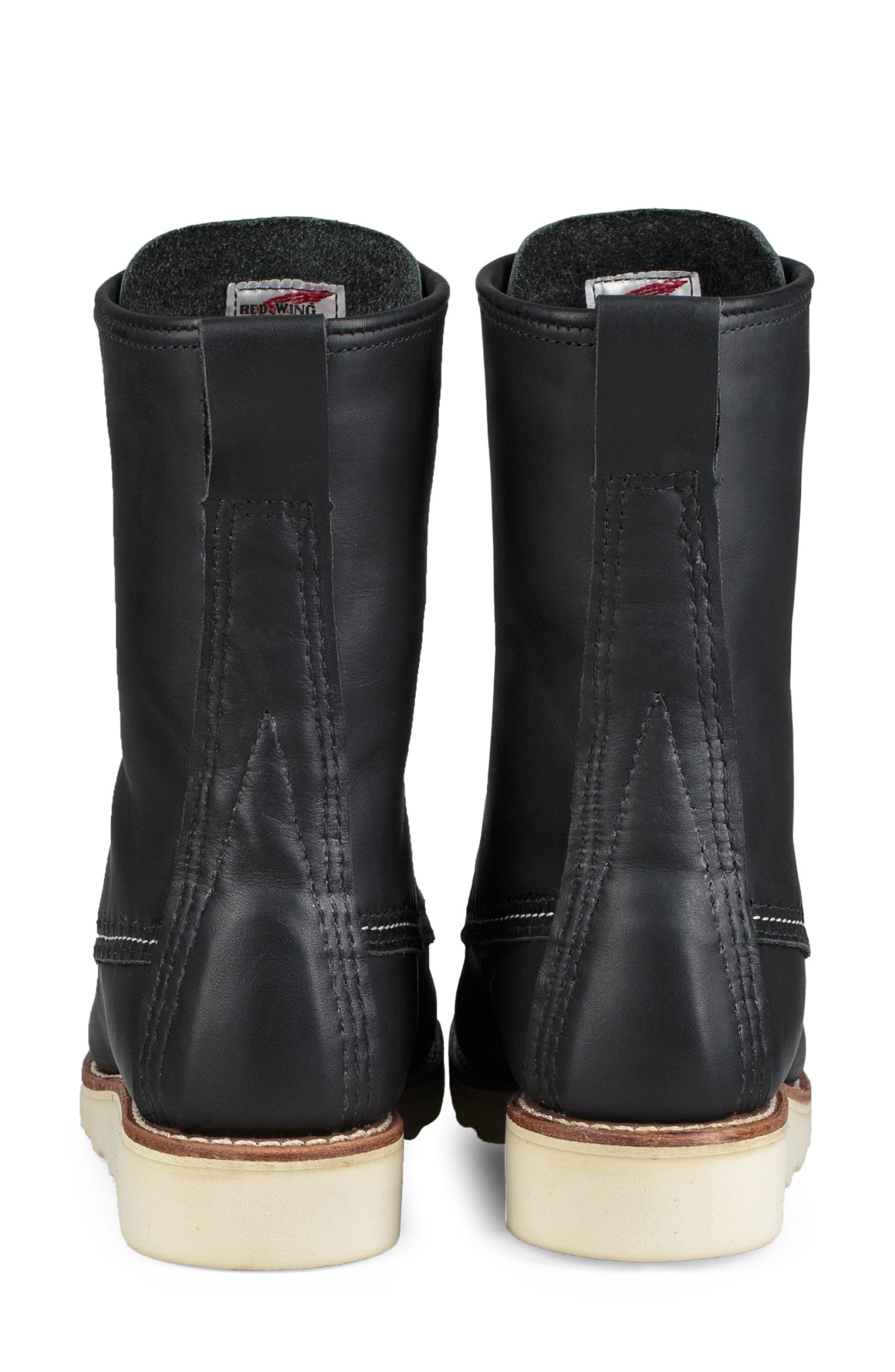 ,                             8-Inch Moc Boot,                             Alternate thumbnail 4, color,                             BLACK BOUNDARY LEATHER