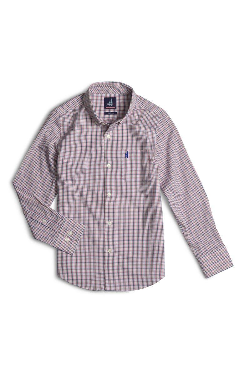 JOHNNIE-O Coleman Tattersall Button-Down Shirt, Main, color, ISLAND