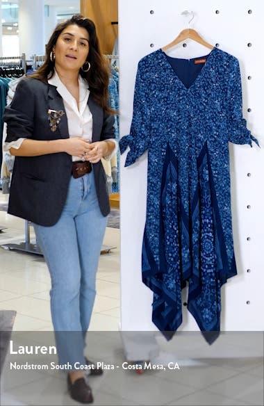 Scarf Print Silk Dress, sales video thumbnail