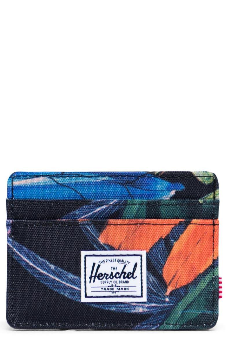 HERSCHEL SUPPLY CO. Charlie RFID Card Holder, Main, color, WATERCOLOR BLACK