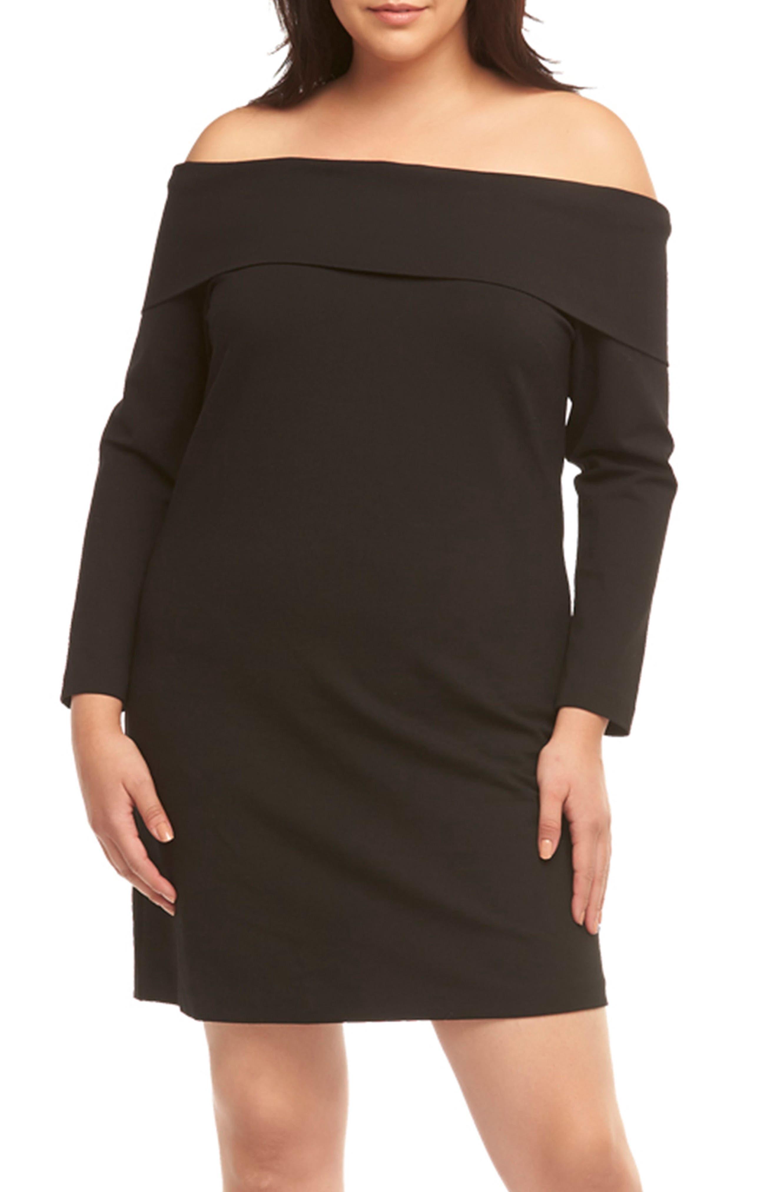 Plus Size Tart Coralie Off The Shouder Dress, Black