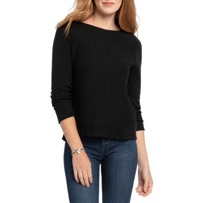 Nic+Zoe Back Country Button Back Cardigan Sweater, Black
