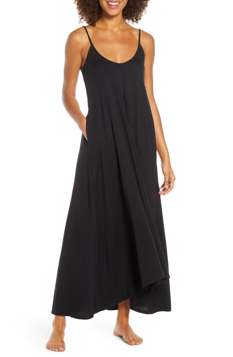 GROCERIES APPAREL Ava Organic Cotton Nightgown, Main, color, 001