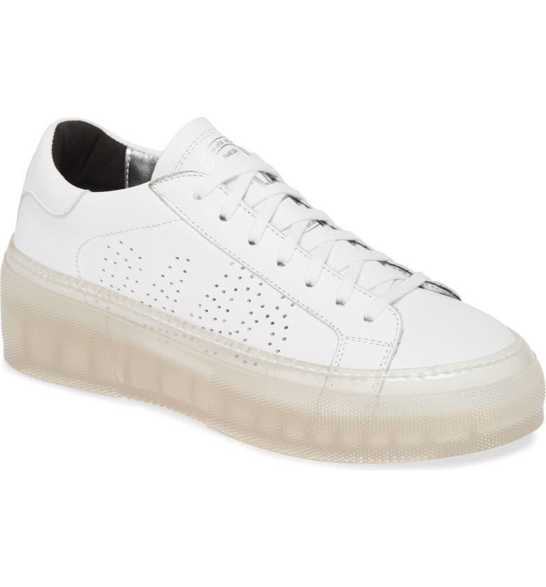 P448 Louise Platform Sneaker, Main, color, WHITE/ CLEAR