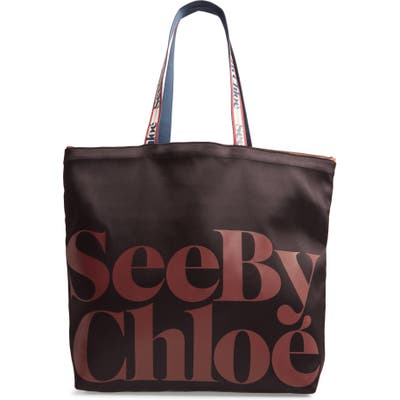 See By Chloe Live Satin Tote - Black