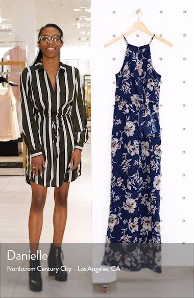 Floral Print Wide Leg Jumpsuit, sales video thumbnail